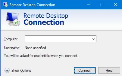 Remote Desktop di Windows